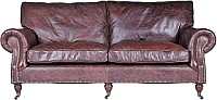 My Flair Ledersofa Balmoral 3 Sitzer Antique Whisky