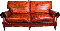 My Flair Ledersofa Balmoral 3 Sitzer Riders Nut