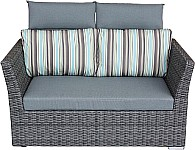 Zebra Polyrattan Lounge Set Jack Junior, grau